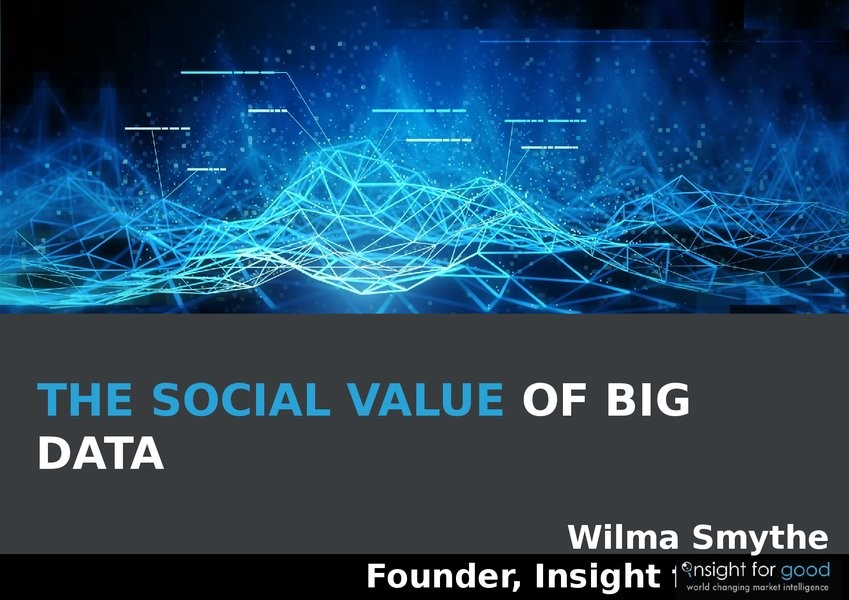 The Social Value of Big Data image