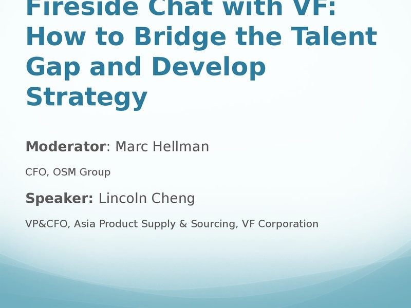 On Demand Presentations Fireside Chat With Vf How To Bridge The
