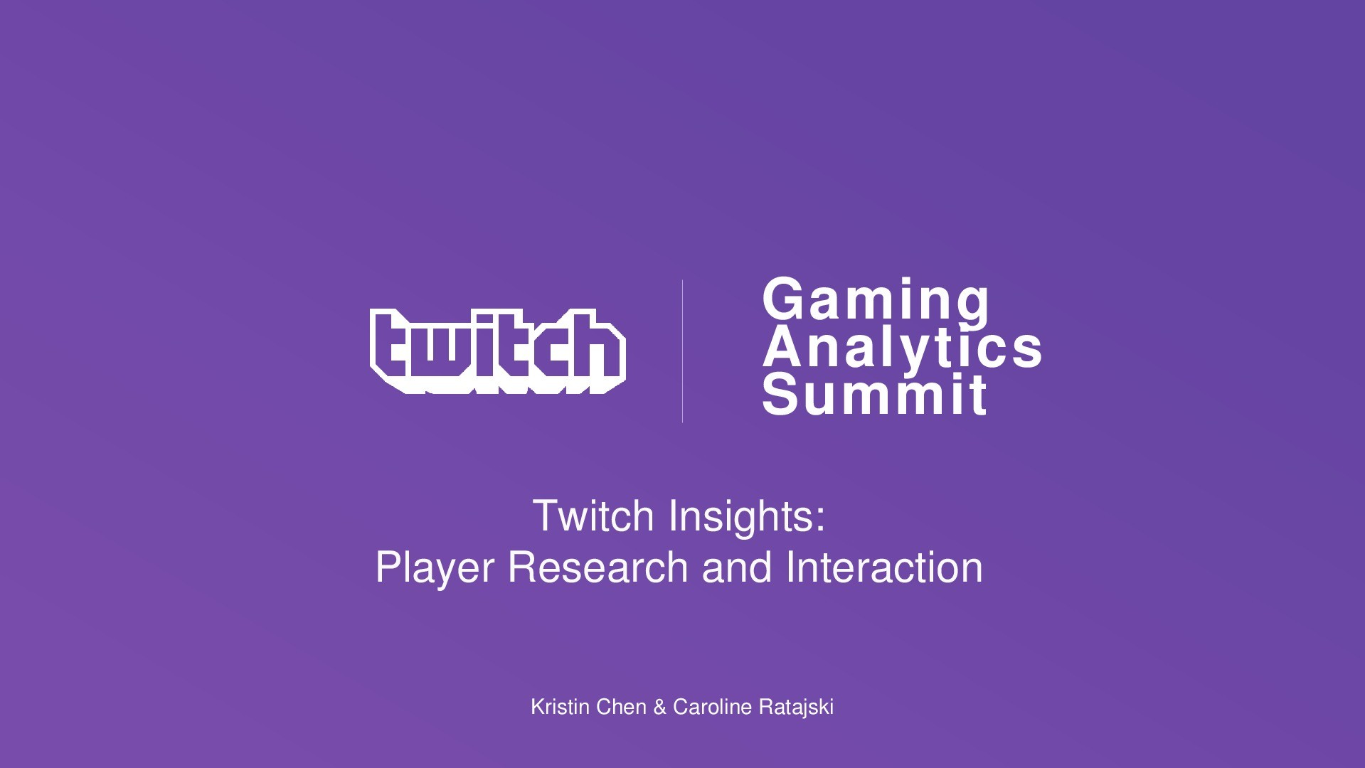 Twitch Insights: Player Research and Interaction
