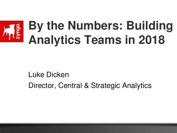 By the Numbers: Building Analytics Teams in 2018 image