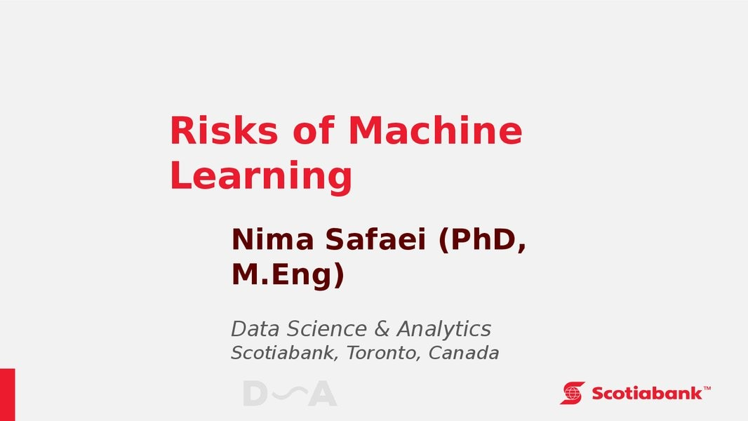 Risks of Machine Learning