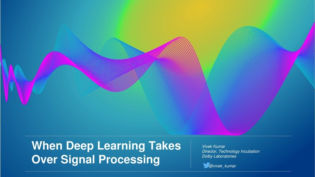 When Machine Learning Takes Over Signal Processing image