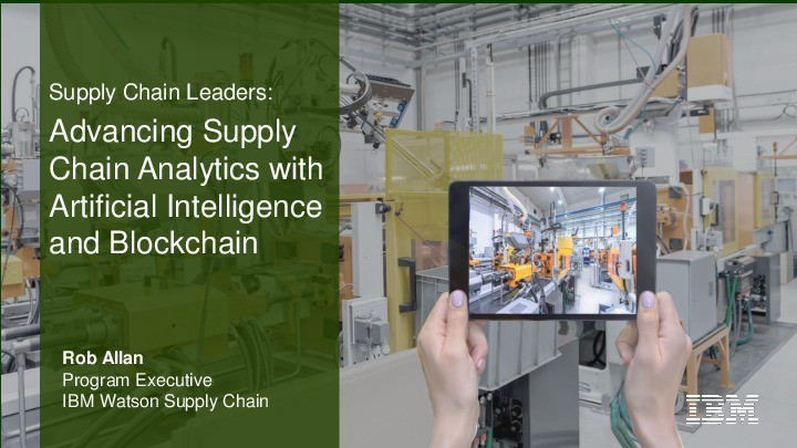 Advancing Supply Chain Analytics with Artificial Intelligence and Blockchain