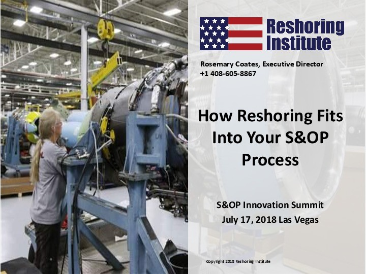 How Reshoring Manufacturing Fits Into Your S&OP Process