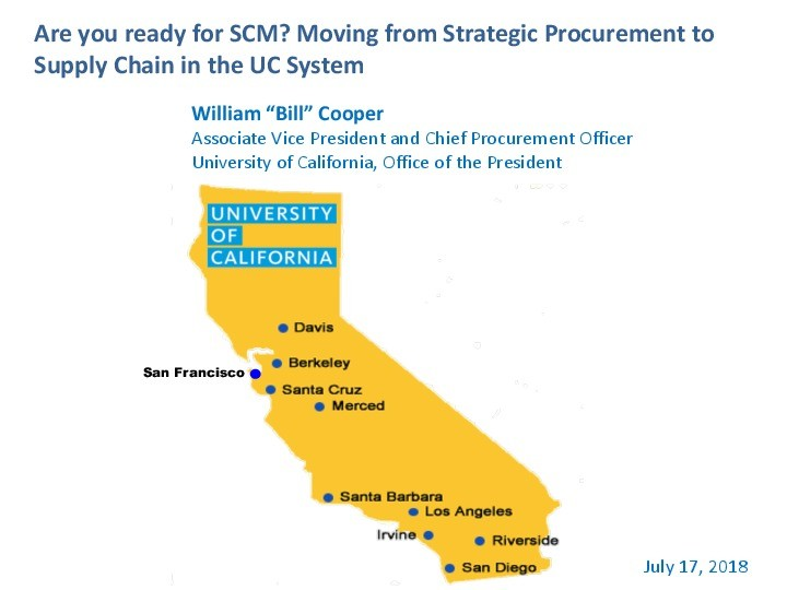 Are you ready for SCM? Moving from Strategic Procurement to Supply Chain Management