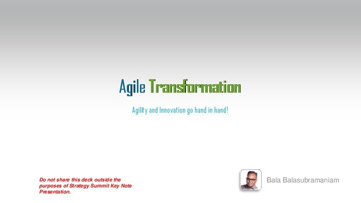 Driving Agile Transformation