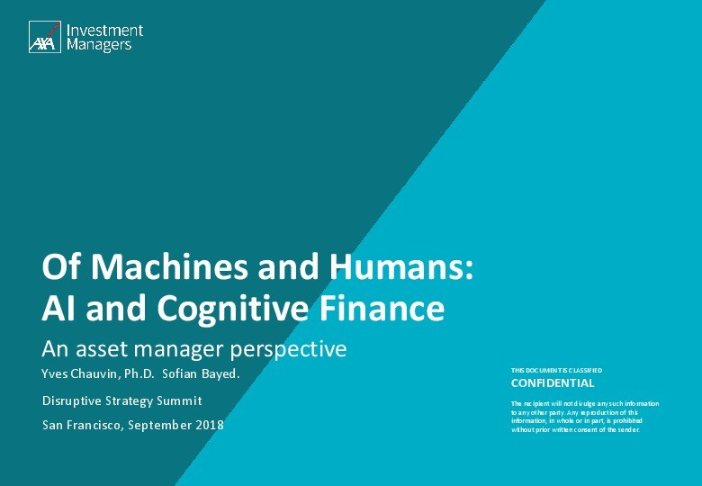 Of Machines and Humans: AI and Cognitive Finance image