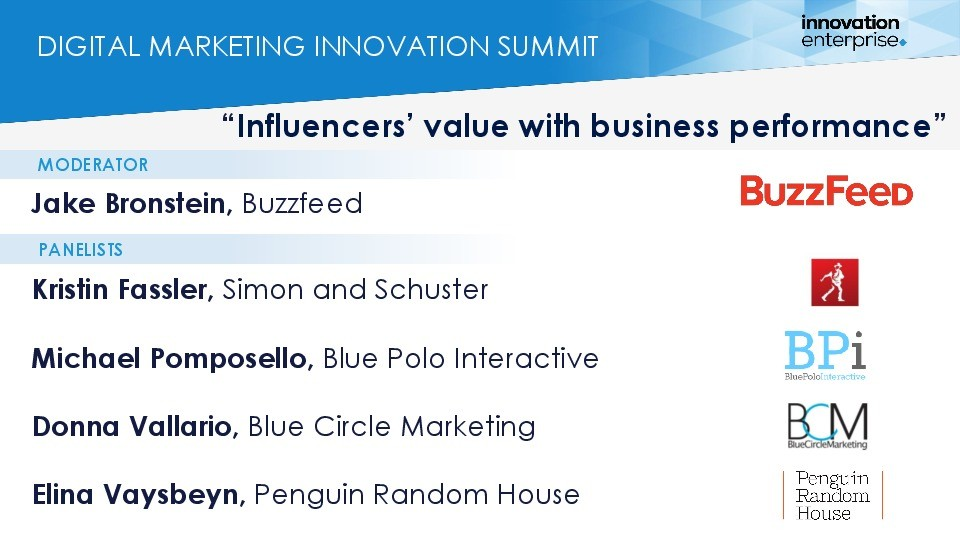 Influencers' value with business performance