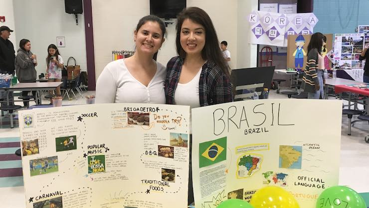 Brazilian au pairs Luciana and Caroline spoke about their home country.