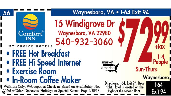 Comfort Inn 15 Windigrove Dr Waynesboro Va 22980