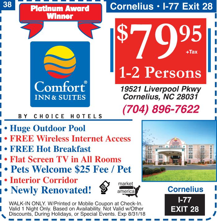 Hotel travel coupons north carolina