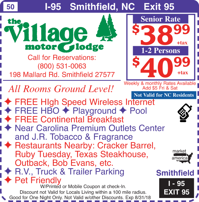 The villiage motor lodge 198 mallard rd smithfield nc for Village motor lodge smithfield nc