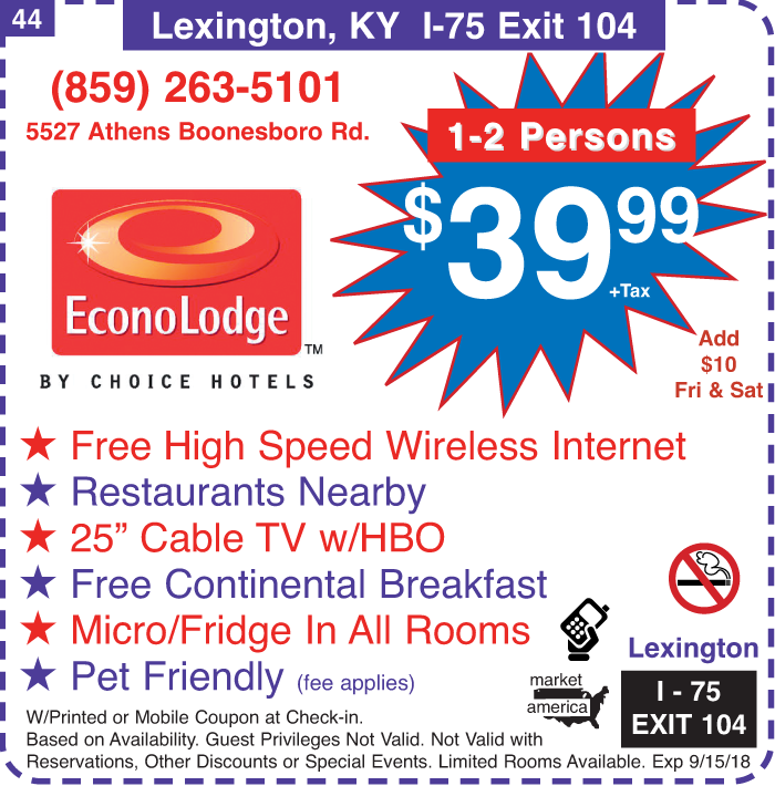 Econo Lodge - 5527 Athens Boonesboro Rd., Lexington, KY 40509 - Exit on crestwood ky map, clover bottom ky map, danville ky map, russellville ky map, lexington ky map, richmond ky map, columbia ky map, franklin ky map, lancaster ky map, park hills ky map, lakeside ky map, middletown ky map, blackwater ky map, kirksville ky map, ashland ky map, augusta ky map, bethel ky map, georgetown ky map, boonesborough ky map, wellington ky map,