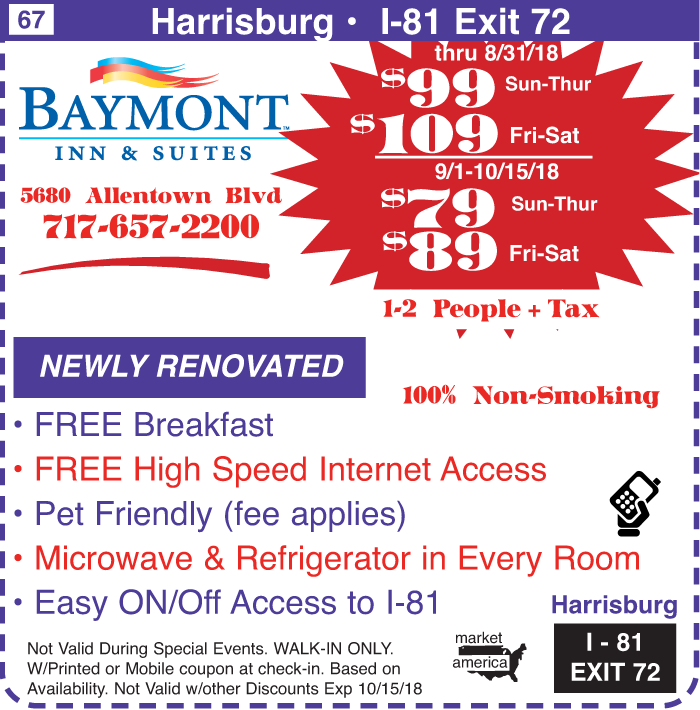 Baymont Inn Amp Suites 5680 Allentown Blvd Harrisburg