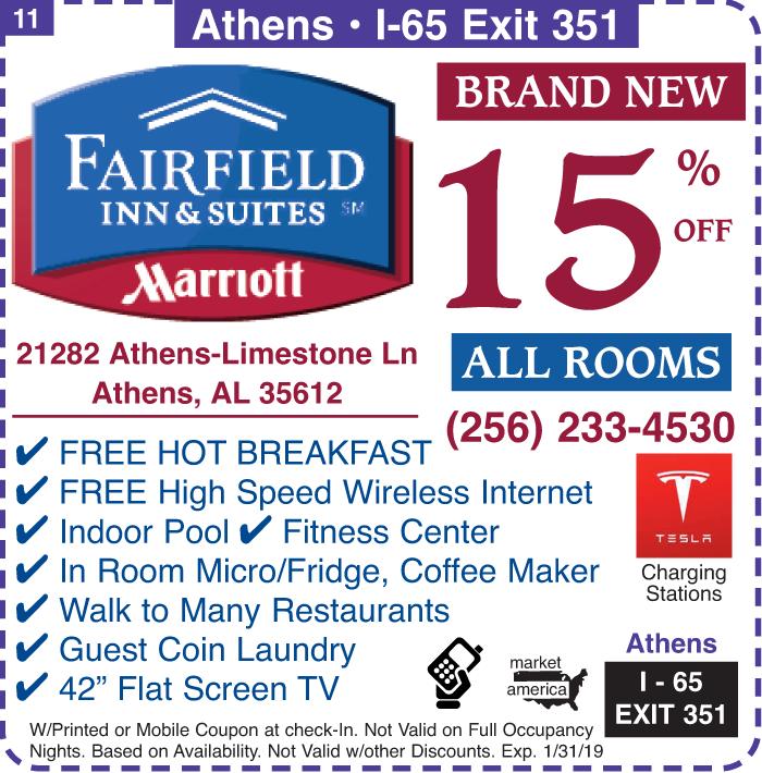 Fairfield Inn And Suites 21282 Athens Limestone Lane