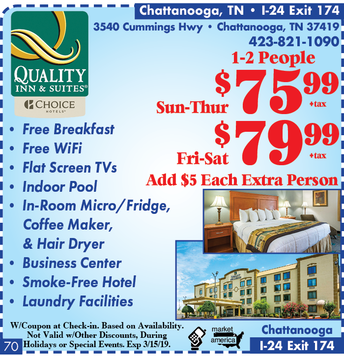 Quality inn and suites chattanooga tennessee
