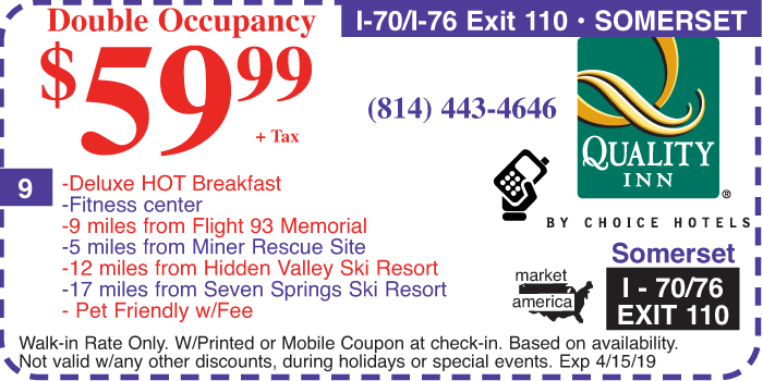 Quality Inn 215 Ramada Rd Somerset Pa 15501 Exit 110