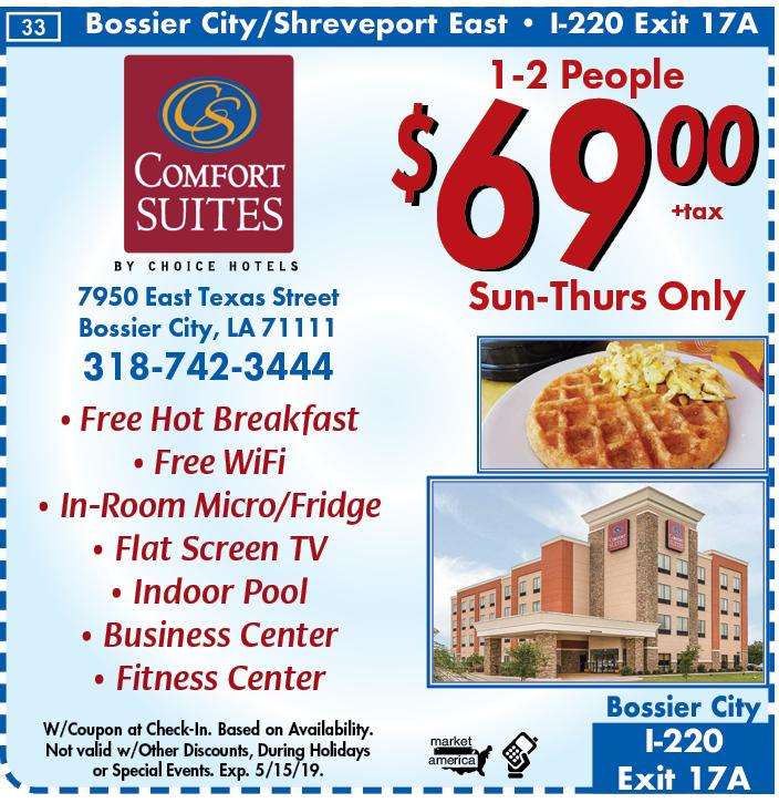 Comfort Suites 7950 East Texas Street Bossier City La 71111