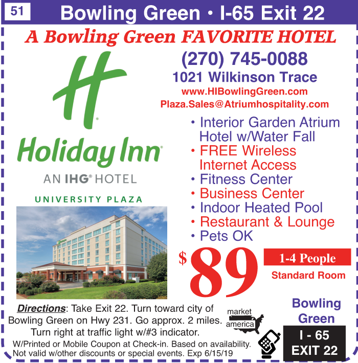 Holiday Inn - 1021 Willkinson Trace, Bowling Green, KY 42104 - Exit