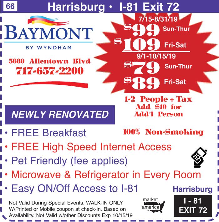 Baymont by Wyndham - 5680 Allentown Blvd , Harrisburg, PA