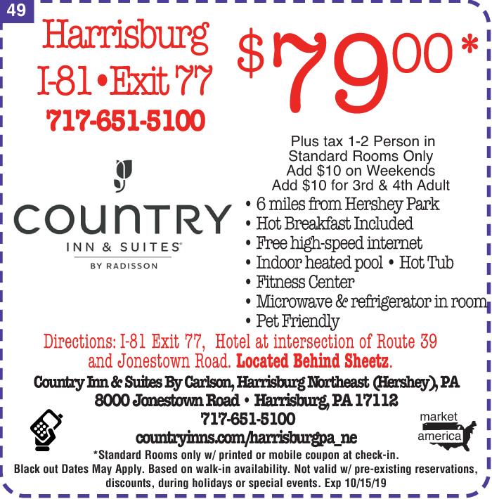 Country Inns and Suites - 8000 Jonestown Rd , Harrisburg, PA