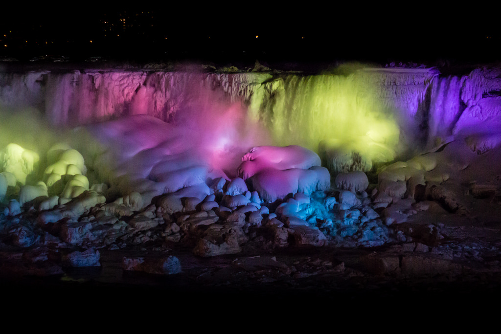 """Niagara Falls Frozen Illumination"" by Elvir K via Flickr Creative Commons"
