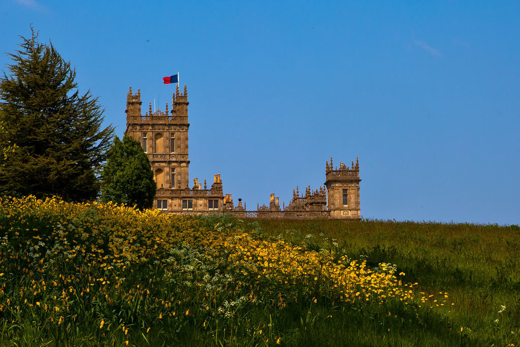 """Downton Abbey (Highclere Castle)"" by Richard Munckton via Flickr Creative Commons"