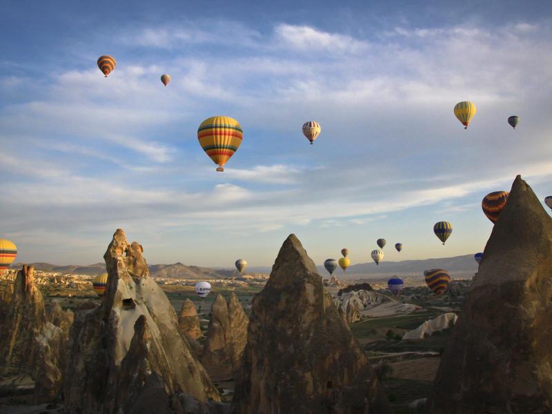 Cappadocia hot air balloons  avisionnphoto flickrcc