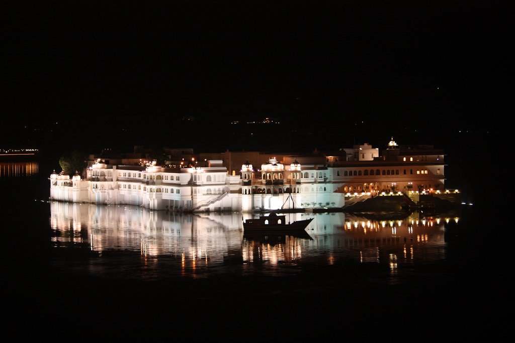 """Udaipur, Lake Palace Hotel"" by Arian Zwegers via Flickr Creative Commons"