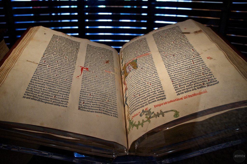 """Gutenberg Bible"" by Atmtx via Flickr Creative Commons"