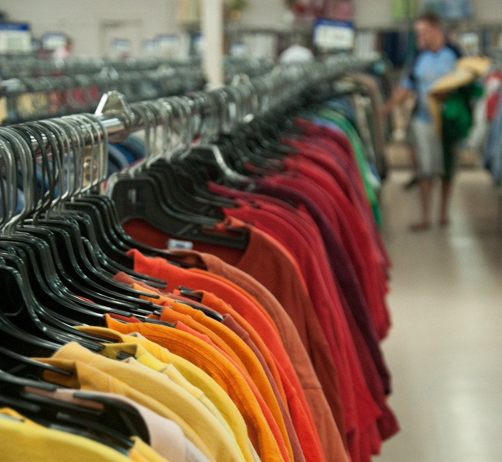 """T Shirt Shopping at Goodwill"" by Bob Jagendorf via Flickr Creative Commons"
