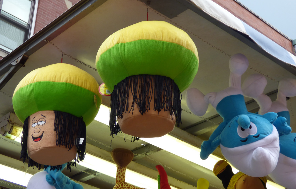 """Smurfs and Rasta 'shrooms (?)"" by Lorianne DiSabato via Flickr Creative Commons"