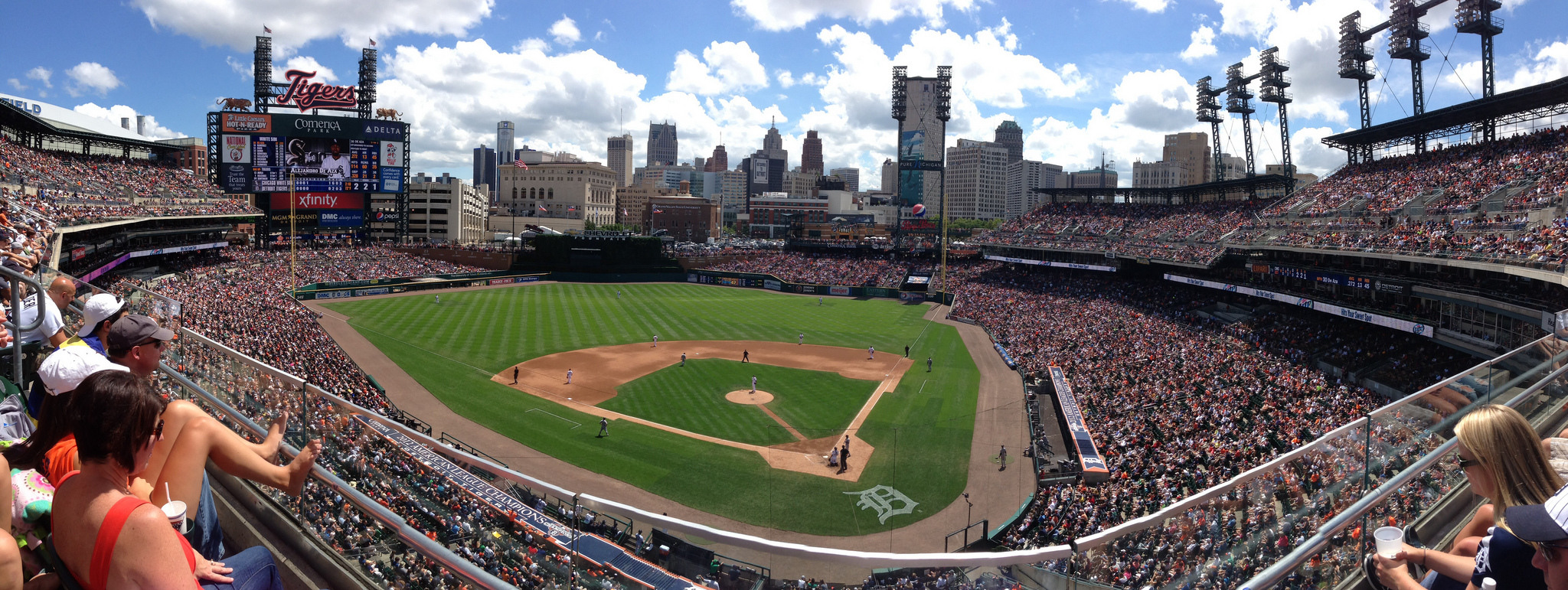 """Comerica Park, Detroit"" by Mike Boening via Flickr Creative Commons"