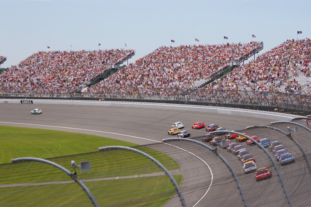 """Looking at Turn 4 as Cars Line Up For Start"" by Tequila Mike via Flickr Creative Commons"
