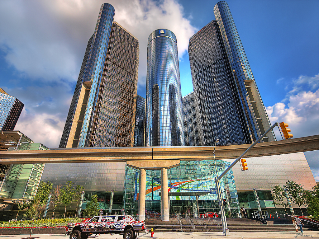 """Renaissance Center (GM)"" by Paul Bica via Flickr Creative Commons"
