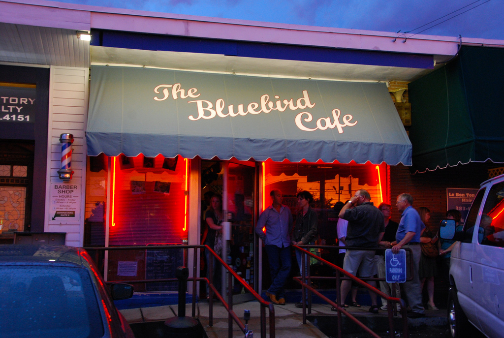 """The Bluebird Cafe"" by Adam Fagen via Flickr Creative Commons"