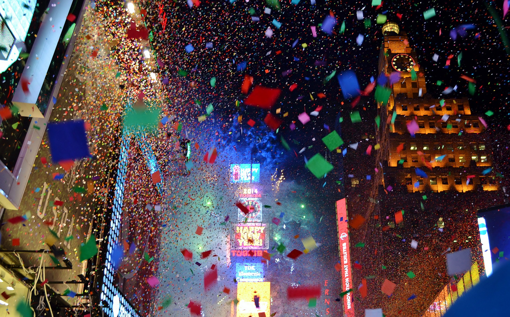 """2014 NYE in Times Square"" by Gigi_NYC via Flickr Creative Commons"