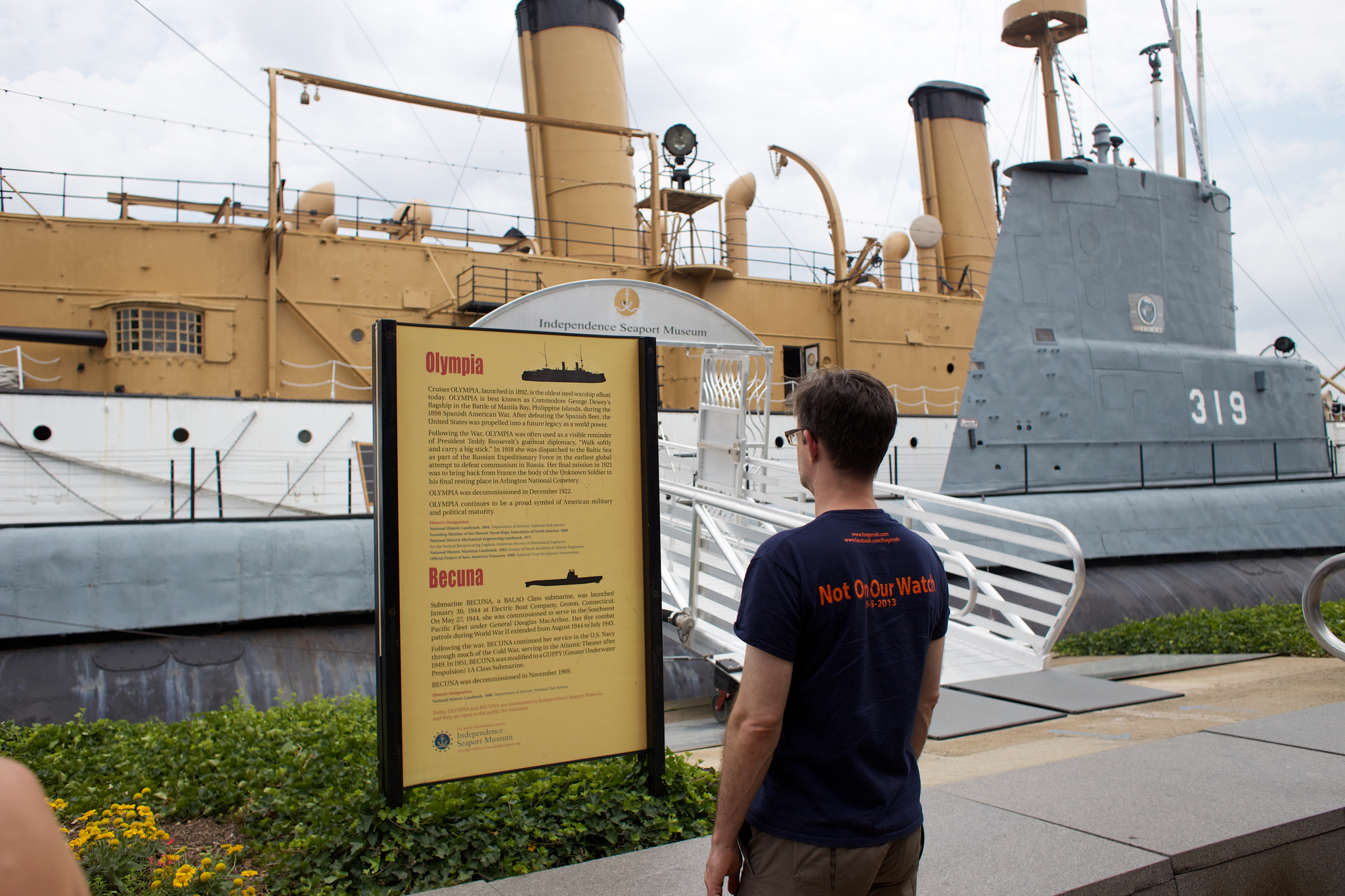 """Kent Intrigued by the Independence Seaport Museum"" by Juan Monroy via Flickr Creative Commons"
