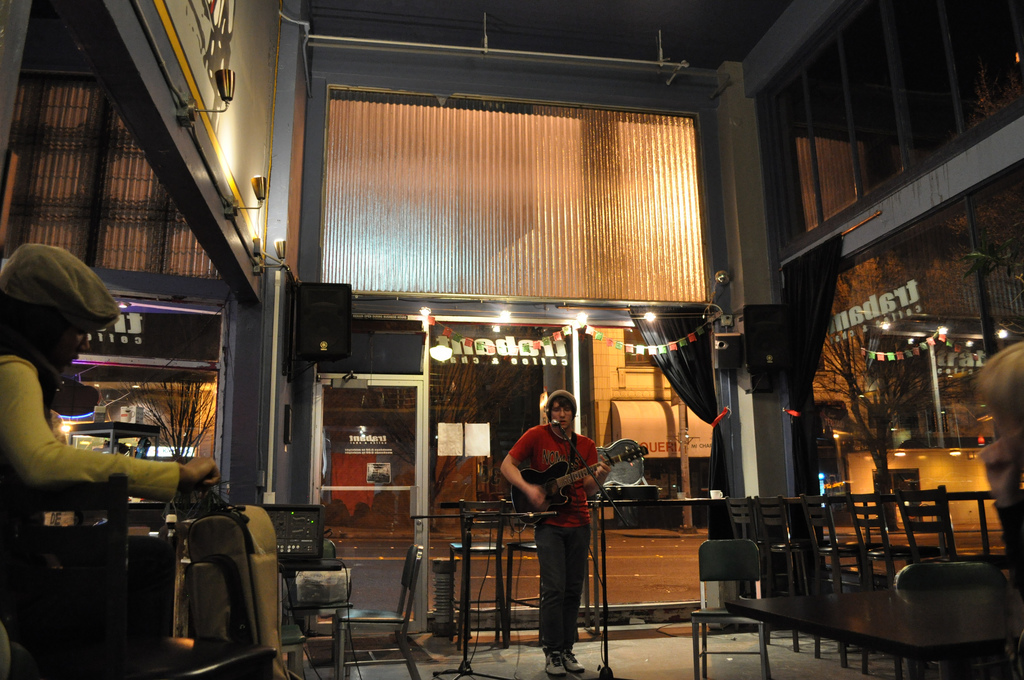 """""""Open Mic Night at Trabant Coffee and Chai"""" by Cleverdame107 via Flickr Creative Commons"""