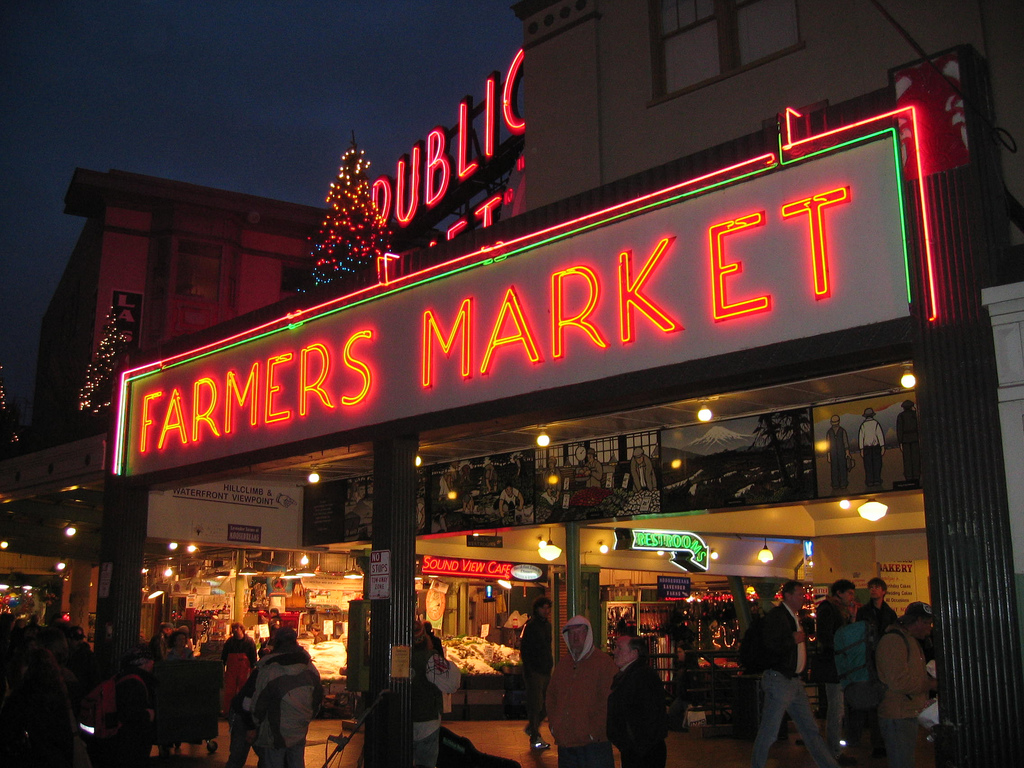 """Pike's Place Before Sundown"" by Daniel Ronan via Flickr Creative Commons"
