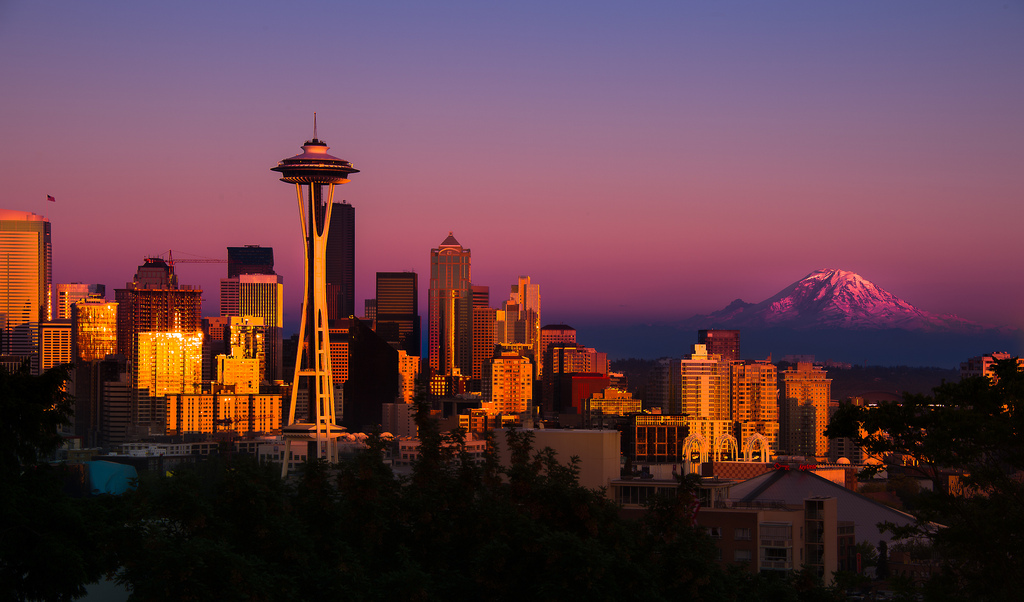 """Seattle Golden Light' by Howard Ignatius via Flickr Creative Commons"