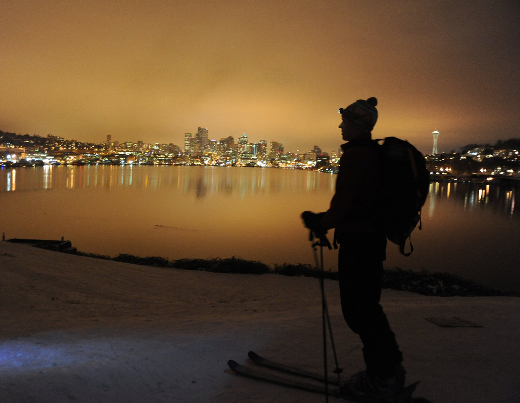 """Night Skier"" by Wonderlane via Flickr Creative Commons"