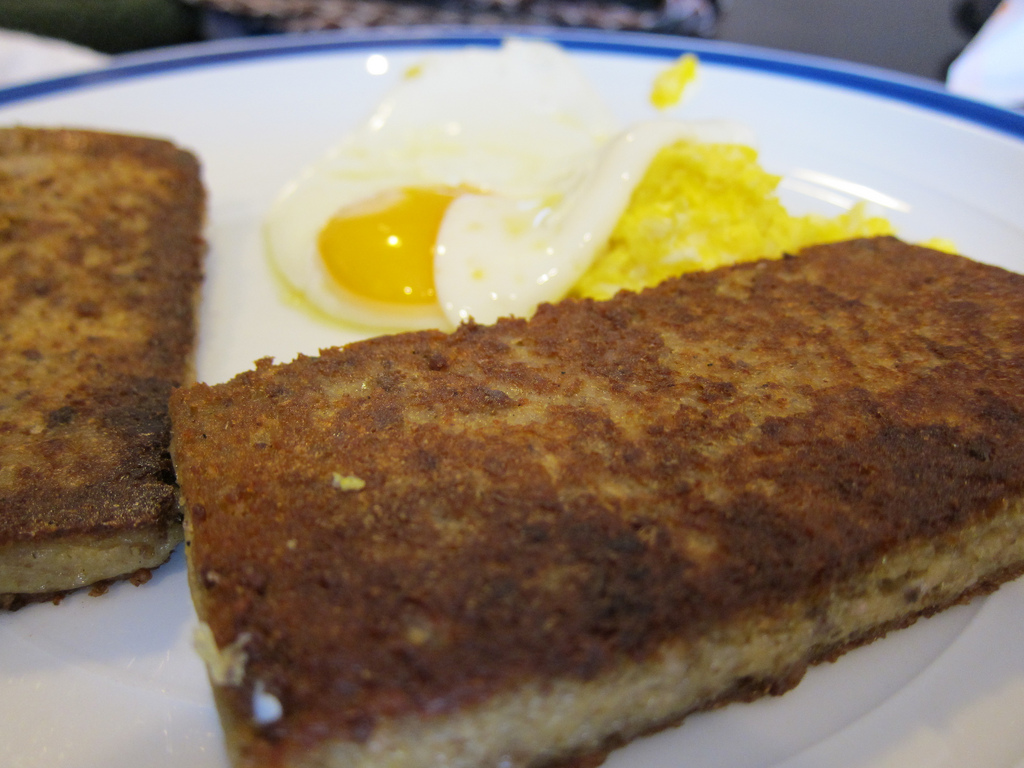 """Scrapple and Eggs"" by Adam Gerard via Flickr Creative Commons"