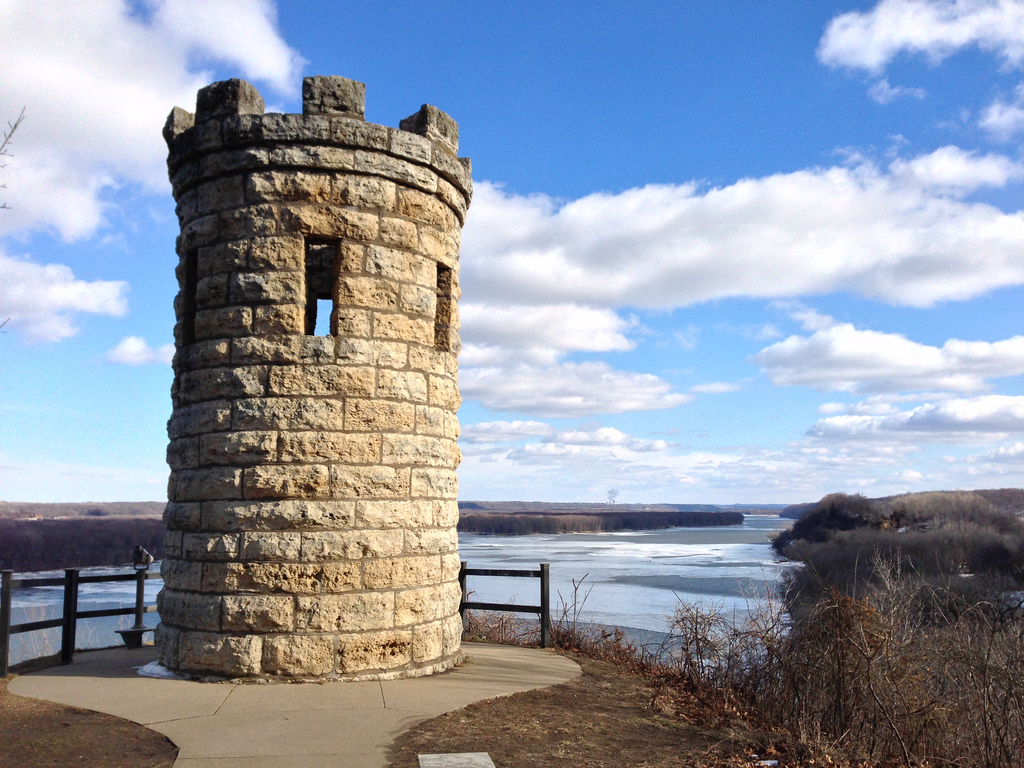 """ Dubuque's Monument Tower at Mines of Spain Park"" by Richie Diesterheft via Flickr Creative Commons"
