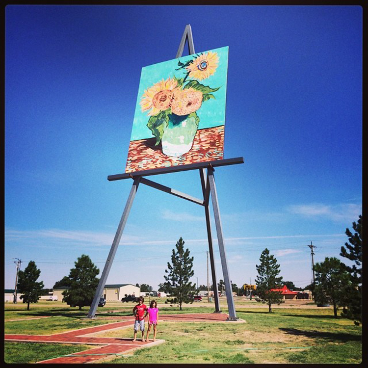 """World's Largest Easel — Goodland, Kansas"" by Bill Keaggy via Flickr Creative Commons"