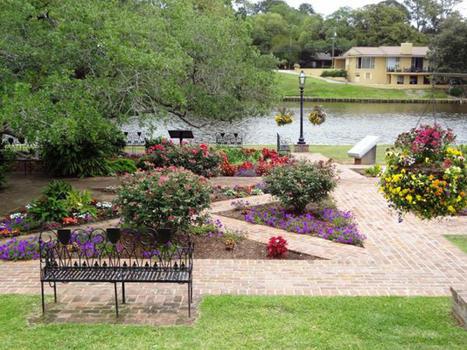 Roque garden with waternew