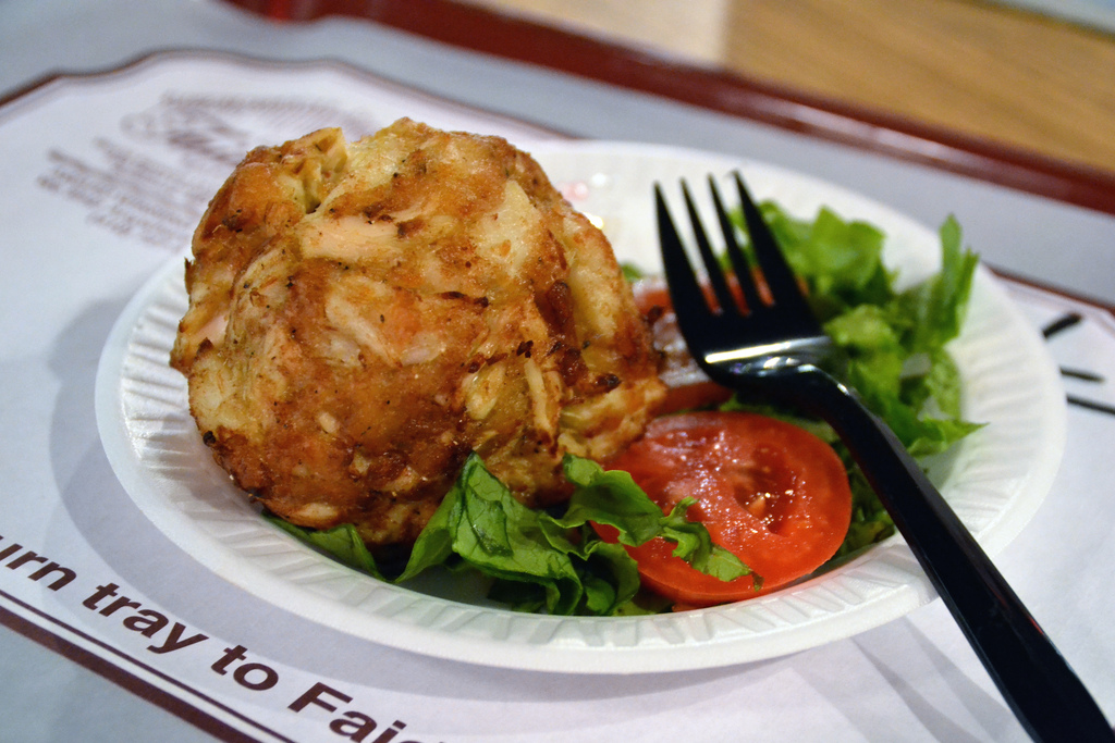"""Faidley's Famous Crab Cake"" by Jpellgen via Flickr Creative Commons"