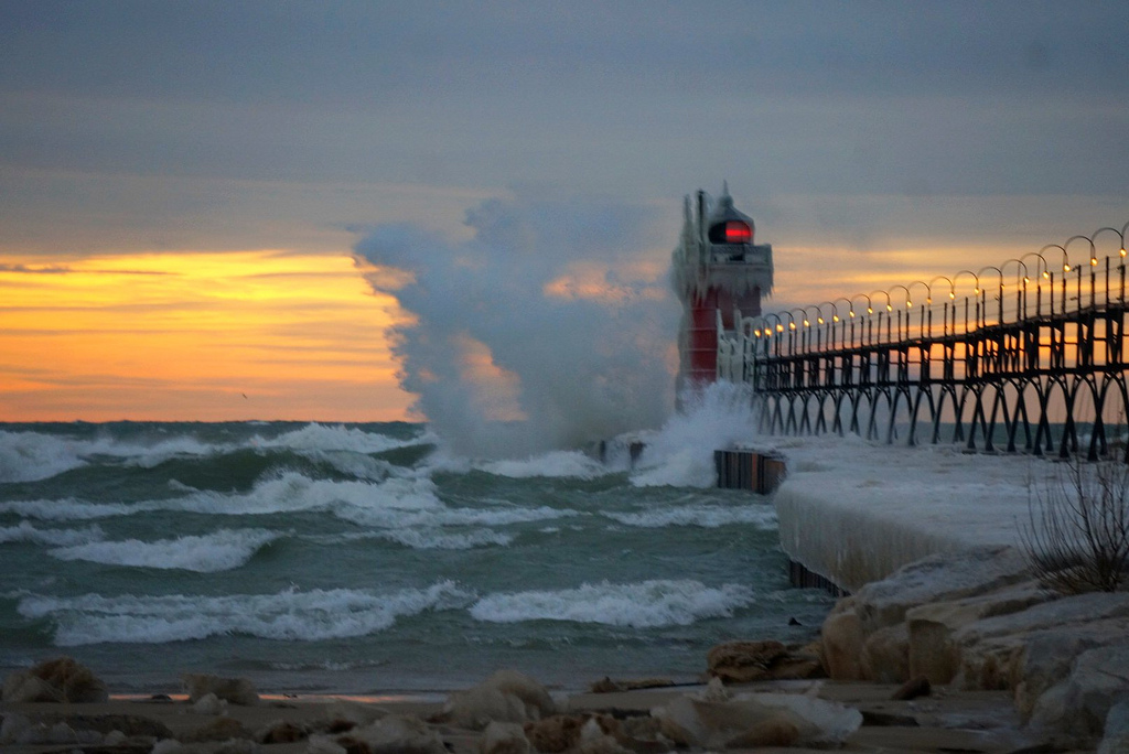 """Another from New Years Day Sunset at the South Haven Pier"" by Rachel Kramer via Flickr Creative Commons"