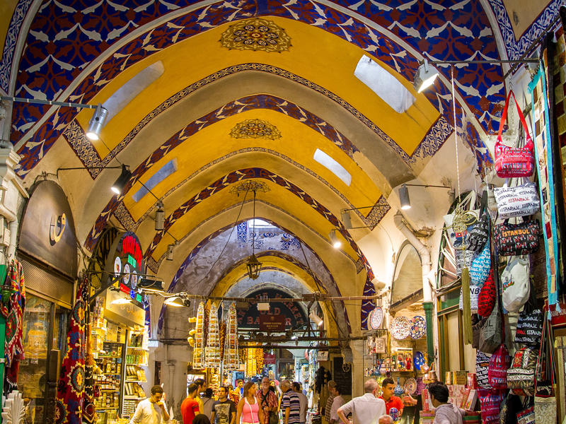 Grand bazaar ceiling