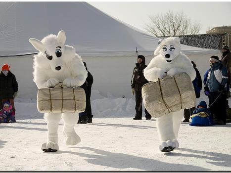 Festival du voyageur mascots plonq